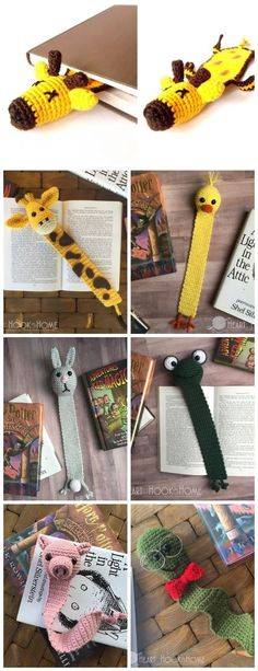 Crochet Projects These seven crochet bookmark patterns are small projects that require just a little bit of yarn and time. Here are some free crochet patterns for making bookmarks. Makes a great gift or keep it for yourself. Marque-pages Au Crochet, Crochet Mignon, Crochet Amigurumi, Crochet Books, Cute Crochet, Sewing Projects For Guys, Beginner Crochet Projects, Crochet For Beginners, Knitting Projects