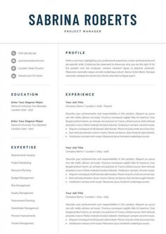 One Page Resume Template, Modern Resume Template, Creative Resume Templates, Cv Template, Creative Cv, Resume Tips, Resume Cv, Resume Design, Cv Design