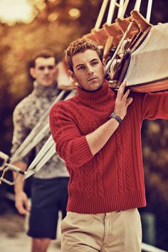 Get Your Turtle Neck On- repinning cause they're carrying a boat, not cause im into turtle necks