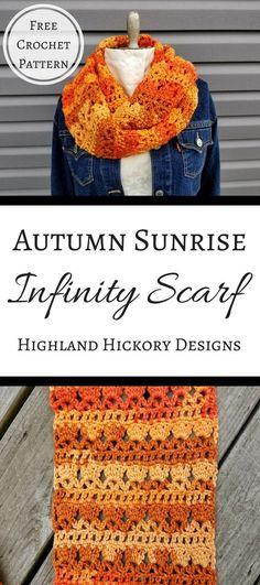 Autumn sunrise scarf.