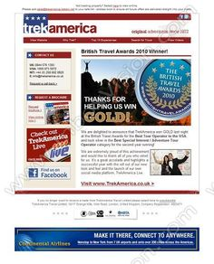 Company:    Trek America Travel Ltd.   Subject:   Thank you for helping us win GOLD!              INBOXVISION is a global database and email gallery of 1.5 million B2C and B2B promotional emails and newsletter templates, providing email design ideas and email marketing intelligence http://www.inboxvision.com/blog