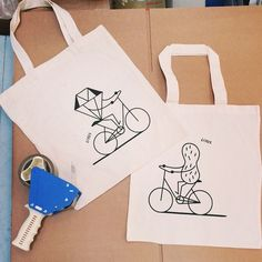 @interbike prep in full swing! Keep an eye out for these rad #LinusBikeXRichardMcGuire totes at the show and read up on our collab with artist Richard McGuire on linusbike.com, where you can find more merch too!