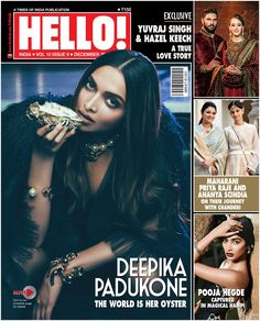 The world is her oyster! @deepikapadukone raises the mercury, dazzles & stuns on the December cover of @HELLOmagIndia.