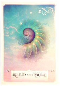 Round and Round ~ Wisdom of the Oracle divination card by Colette Baron-Reid