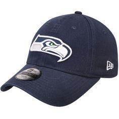Seattle Seahawks New Era Girls Youth Preferred Pick Adjustable Hat - Navy 1189b9f51b