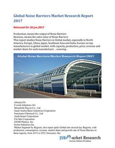 Global noise barriers market research report 2017