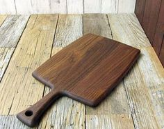 Wooden Cutting Board Round Walnut Wood by foodiebords on Etsy