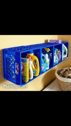 Crate laundry storage