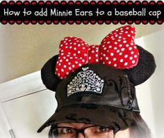 How to make a Mickey or Minnie ears baseball cap