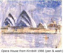 Llyod Rees, Opera House from Kirribilli, 1966
