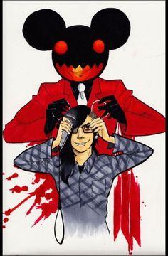 Skrillex and deadmau5 - cool fan art
