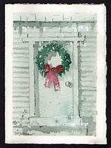 Watercolor Christmas Card W-33 | Zazzle