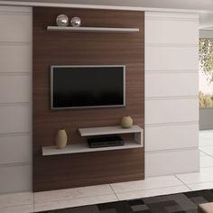 painel para tv | Como escolher o Painel de TV ? Faça você mesmo – Mix Imóveis SP Tv Cabinet Design, Tv Wall Design, Tv Unit Design, Tv Unit Decor, Tv Wall Decor, Deco Tv, Tv Wall Panel, Lcd Panel Design, Tv Wall Cabinets