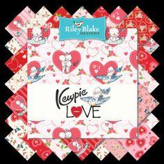 Kewpie Love Charm Pack  Valentine's Day Fabric  5 by Jambearies