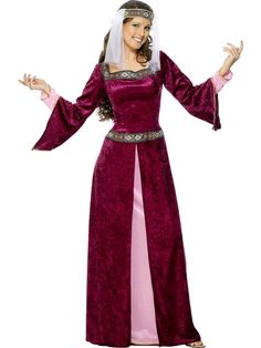 514710eb571 Adult Maid Marion Robin Hood Fancy Dress Deluxe Costume Ladies Womens  Female BN