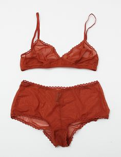 Laura Urbinati Triangle Bra - Sheer Terra Cotta ($110.00) - Svpply
