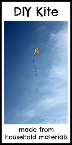 How to Make a Kite from simple and inexpensive household items. This type of kite requires very little wind to get in the air!