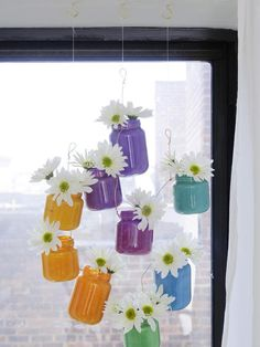 Upcycle Baby Food Jars Into Hanging Ombre Vases : Decorating : Home & Garden Television