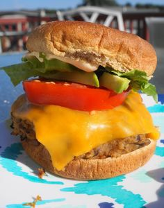 Southwest Black Bean Sweet Potato Burgers with Buffalo Mayo | Busy Girl Healthy World
