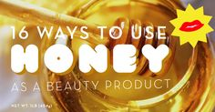 16 DIY honey recipes for hair, skin, nails and first aid. Love beauty? Become a makeup artist! Go Here... www.temacourse.com