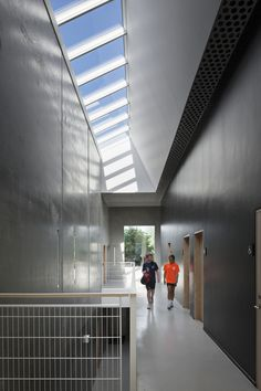 VELUX modular skylights provide daylight and fresh air through the roof and help create healthy, comfortable and productive indoor spaces. Through The Roof, Pavilion, Skylights, Perfect Fit, Blinds, Commercial, Stairs, Indoor, Gallery
