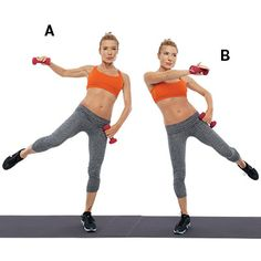 Circle Stepping: Combine these strength training exercises from Tracy Anderson with a cardio routine for strong and sculpted arms. | Health.com