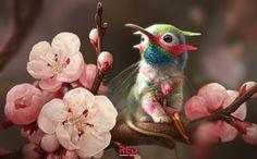 ArtStation - florem grypem Latin: floral griffin, George Redreev