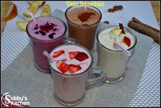 Oats Smoothie, a wonderful and healthy breakfast dish.  We can have variety of Oats smoothie with many combinations of fruits and nuts. The main three ingredients such as oats, honey (or Sugar), milk and yogurt. Rest are combination of fruits and nuts.