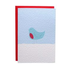 Robin Christmas Card by TeaAndCeremony on Etsy, £2.50  #christmas #card #festive #holidays #winter #illustration #robin #bird #snow