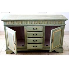 Oklahoma Farmhouse Hand Painted Sideboard Buffet with Wrought Iron Hardware NEW Painted Sideboard, Sideboard Buffet, Sinks For Sale, Cast Iron Sink, Kitchen Buffet, Living Room Kitchen, Dining Room, Hand Painted Furniture, Buffets