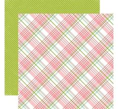 Echo Park Bundle of Joy 2 Baby Girl Plaid Baby Girl Scrapbook Paper
