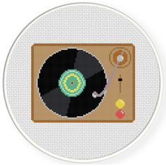 Charts Club Members Only: Record Player Cross Stitch Pattern