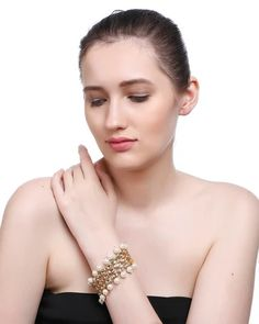 Gold Plating Geometric Design With Kundan Stones Haath Phool By Imli Street Fashion Jewelry Stores, Fashion Jewellery, Shape Design, Gold Material, Wedding Wear, Stone Bracelet, Bracelet Designs, Fashion Bracelets, Diamond Earrings