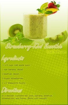 Strawberry Kiwi Smoothie Recipe smoothie recipe recipes easy recipes smoothie recipes smoothies smoothie recipe easy smoothie recipes smoothies healthy smoothies healthy smoothie recipes for weight loss #weightlosstips