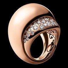 De Grisogono - BOCCA Collection - Ring Pink gold - white diamonds