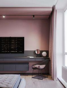 ideas bedroom vintage decoration grey for 2019 Gray Interior, Modern Interior Design, Interior Architecture, Pastel Interior, Interior Livingroom, Bohemian Interior, Bedroom Bed Design, Bedroom Decor, Bedroom Lighting