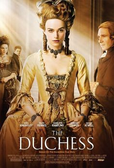 A chronicle of the life of 18th century aristocrat Georgiana, Duchess of Devonshire, who was reviled for her extravagant political and personal life. (110 mins.) Director: Saul Dibb Stars: Keira Knightley, Ralph Fiennes, Dominic Cooper, Charlotte Rampling