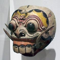 Barong dragon mask; Indonesia, Bali; 20th century(?); wood, pigment