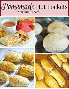 Save lots of money and make your own Homemade Hot Pockets you can freeze ~ Great for after school snacks, summer snacks, meal planning etc. Oh so yummy too!