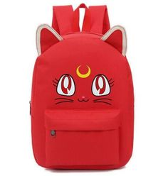 7e477881d67 Sailor Moon Kawaii Luna School Backpack 6 Colors. Meisjes RugzakkenSchool  ...