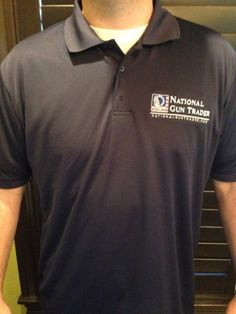 National Gun Trader Golf Shirts Now Available is available at $34.99 USD in The Woodlands TX, 77380.