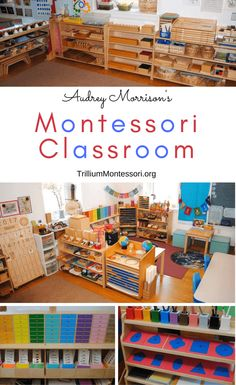 Take a look at what's on the shelves in Audrey's Montessori classroom: Language, Sensorial, Math, and Cultural inspiration for your Montessori environment. preschool A Tour of Audrey's Montessori Classroom Montessori Classroom Layout, Montessori Kindergarten, Montessori Homeschool, Montessori Elementary, Montessori Toddler, Montessori Activities, Preschool Math, Elementary Teaching, What Is Montessori