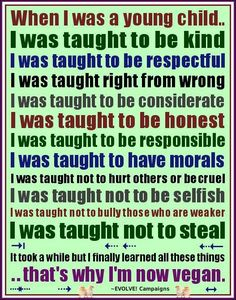 I was taught...