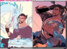 i meant to make more new con stuff today but instead i spent half the day fixing these old hanzo prints