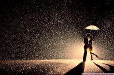 Rainy Day Photo Shoot - A Kiss in the Rain