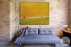 """""""Far Far Away"""" Canvas #walldecor - ideal for a living room in a mid-century style (by PIXERS)"""
