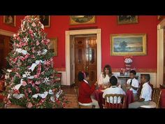 U.S. First lady Melania Trump invited elementary school students and children from Joint Base Andrews Monday to come see the White House's newly unveiled Christmas decorations and work on hol…
