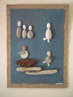 Πινακες απο βοτσαλα, ξυλο και πετρα