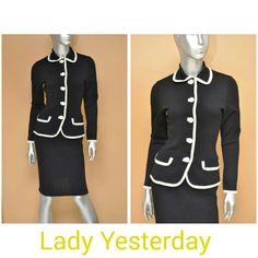 Vintage Saks Fifth Avenue two piece suit, very Jackie O. In our ebay shop  Stores.ebay.com/lady-yesterday-consignment-clothing #vintagestyle #vintagedress #saksfifthavenue #vintagefashion #jackieostyle #jackieo #vintagestuff #womenssuits #ebay #twopiecesuit #workoutfit #ootd #classicstyle #vintage #vintagesweaters #blackandwhite #womensfashion #ladyyesterday #wootd #fashionblogger
