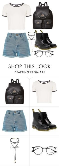 """Untitled #159"" by amya9811 on Polyvore featuring Coach, Topshop, Miss Selfridge, Dr. Martens and Ray-Ban"